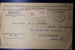 Nederland: Aangetekende Brief 27-3-1943 !! Rouvroy, Noord Frankrijk Rechter Comm. Naar Rotterdam Censuur, Franse Zegels - Brieven En Documenten