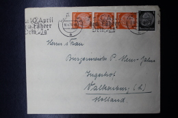 Austria: Anschluss :Cover 10-4-1938  Mixed Stamps, Am 10. April Den Führer Dein Ja! - Briefe U. Dokumente