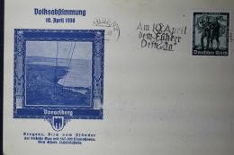 Austria: Anschluss Postkarte Volksabstimmung 10. April 1938  Bregenz - Briefe U. Dokumente