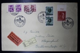 Austria: Anschluss Cover Mixed Franking Einschreiben + Express Graz -> Klagenfurt 20-4-1938  Geburtstag Des Führers - 1918-1945 1. Republik