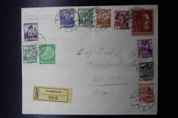 Austria: Anschluss  Cover Einschreiben Feldkirch -> Wil Schweiz, 1-6-1938 Mixed Franking - 1918-1945 1. Republik