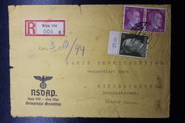 Austria: Anschluss NSDAP Cover Einschreiben Wien -> Kirchsteten 1944 Mit Inhalt, Fragile - 1918-1945 1. Republik
