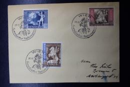 Austria: Anschluss  Cover Wien Europaischer Postcongress 20-10-1942 Mi 823 - 825 - 1918-1945 1. Republik