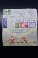 Austria: Anschluss  Luftpost Cover Wien -> Hollywood Caifornia Mi 7773 + 775 + 777   6-6-1941 - 1918-1945 1. Republik