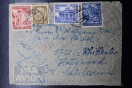 Austria: Anschluss Luftpost Cover Wien -> Hollywood Caifornia Mi 803 + 808+809 15-10-1941 - 1918-1945 1. Republik
