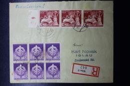 Austria: Anschluss  Cover Einschreiben Wien  Mit Mi 816 * 3 + 818 * 6 - 1918-1945 1. Republik