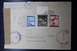 Austria: Cover Censur  Wien -> Karlsruhe  Baden   Mixed Franking  30-10-1946 - 1945-60 Briefe U. Dokumente