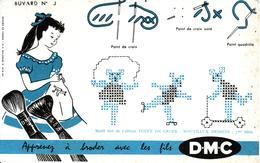Buvard : Fils à Broderie DMC - - Buvards, Protège-cahiers Illustrés