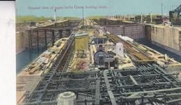 GENERAL VIEW OF UPPER LOCKS GATUN LOOKING NORTH. J DE LEMON & HESS. PANAMA. CIRCA 1900's - BLEUP - Panama