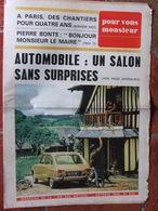Journal Pour Vous Monsieur N°243 (oct 1966) Salon Auto - Pierre Bonte - Paris Chantier - Journaux - Quotidiens