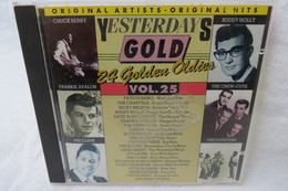 "CD ""Yesterdays Gold"" 24 Golden Oldies, Vol. 25, Original Artists, Original Hits - Compilations"