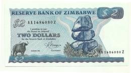 Zimbabwe - 2 Dollars 1983-, - Zimbabwe