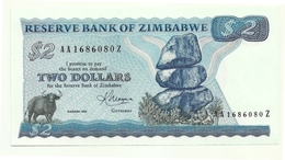 Zimbabwe - 2 Dollars 1983 - Zimbabwe