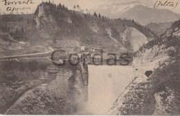 Italy - Impianto Idroelettrico Sul Cismon - La Cascata Dalla Diga Di Ponte Serra - Italia