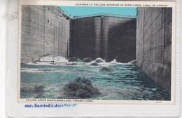 LLENANDO LA EXCLUSA SUPERIOR DE MIRAFLORES, CANAL DE PANAMA. I.L. MADURO JR. CIRCA 1900's - BLEUP - Panama
