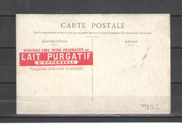 CARTE POSTAL PUBBLICITARIA LAIT PURGATIF - Pubblicitari