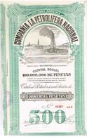 Ancienne Action - Compañia La Petrolifera Nacional - Titre De 1928 - N°80307 - Pétrole