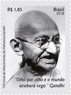 BRAZIL 2018 - 150 Years Of The Birth Of Mahatma Gandhi. MNH - Peace, India, Famous People And Phrase. - Mahatma Gandhi