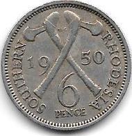 *south Rhodesia  6 Pence  1950  Km 21 Vf+ - Rhodésie