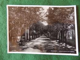 VINTAGE ITALY: FRASCATI Viale XXVIII Ottobre  RP B&w 1941 - Italia