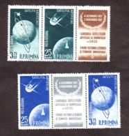 Roumanie - 1957 - PA N° 69 à 72 Et Vignettes - Neufs ** - Satellites - Unused Stamps