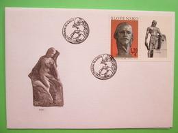 2012 Joint Serbia / Slovakia - 60th Anniv. Death Of Jan Koniarek (Sculptor) - Slovak FDC - Joint Issues