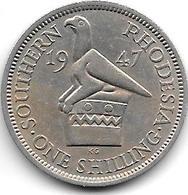 *south Rhodesia 1 Shilling  1947  Km 18b  Xf - Rhodésie