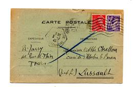 Carte Flamme Muette Tours Sur Iris Mercure + Rural  ? - Marcophilie (Lettres)