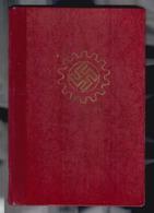 DAF Mitgliedsbuch, Deutsche Arbeitsfront  Mit Vielen Beitragsmarken (Del-3591d) - Dokumente