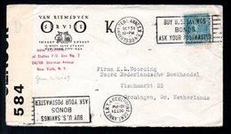 1939 Censor Van Riemsdyck Bronx Annex > Noording Boekhandel Vismarkt 23 Groningen (612) - Verenigde Staten