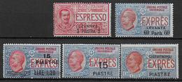 LEVANT ITALIEN - EXPRES YT N° 1/5 */MH  - COTE = 300 EUR. - Bureaux D'Europe & D'Asie