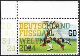 2014 Allem. Fed.  Deutschland Mi.  3095**MNH  EOL Gewinn Der Fußball-Weltmeisterschaft In Brasilien Durch Die Deutsche N - Ungebraucht