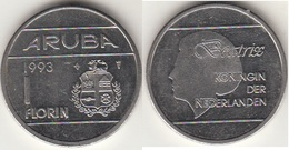Aruba 1 Florin 1993 Queen Beatrix KM#5 - Used - [ 4] Colonies