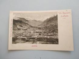 CARTOLINA UN SOUVENIR D'AOSTE - Aosta