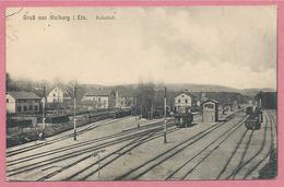 67 - GRUSS Aus WALBURG - WALBOURG - Gare - Bahnhof - Voies Ferrées - Unclassified