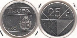 Aruba 25 Cents 1990 Queen Beatrix KM#3 - Used - [ 4] Colonies