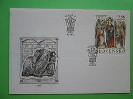 2013 Joint Bulgaria / Czechia / Slovakia / Vatican - 1150th Anniversary Of The Moravian Mission - Slovak FDC - Joint Issues