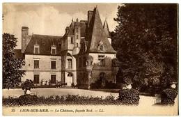 CPA 14 Calvados Lion-sur-Mer Le Château Façade Sud - France