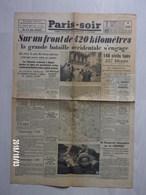 "Journal  ""Paris Soir"" N°6082 Du 13 Mai 1940 - Old Paper"