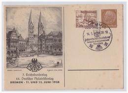 Dt- Reich (001694) Privatganzsache Mit Zusatzfrankatur Blanco Gestempelt Oldenburg 14.5.1938 - Germany
