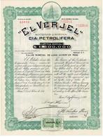 """Ancienne Action - """"El Verjel"""" Compañia Petrolifera Sociedad Anonima - Mexico - Titulo De 1916 - - Pétrole"""