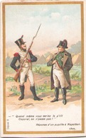 """Carte Publicitaire Chocolats Morin """" Réponse D'un Pupille à Napoléon """" 1805 - Autres Collections"""
