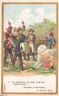 """Carte Publicitaire Chocolats Morin """" Napoléon à Montereau """" 1814 - Autres Collections"""