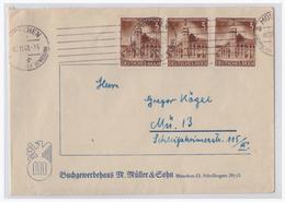 Dt.- Reich (001698) Firmenumschlag Buchgewerbehaus M.Müller & Sohn, Gelaufen München 2.11.1941 - Deutschland