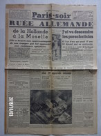 "Journal  ""Paris Soir"" N°6084 Du 15 Mai 1940 - Old Paper"