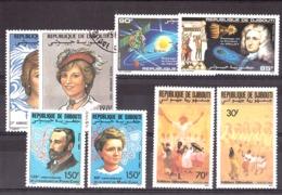 Lot Djibouti - N° 594 Et 595 + 616 Et 617 + 652 Et 653 - Neufs ** + PA N° 164 Et 165 Oblitérés - Djibouti (1977-...)