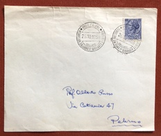 POSTA AEREA AEREOCLUB SALERNO I GIORNATA AVIATORIA BELLIZZI 26/10/58 - Francobolli