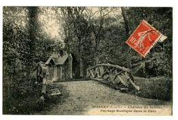 CPA 37 Indre Et Loire Mosnes Château Du Sentier Paysage Rustique Dans Le Parc - France