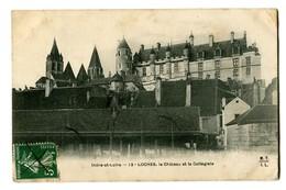 CPA 37 Indre Et Loire Loches Le Château Et La Collégiale - Loches