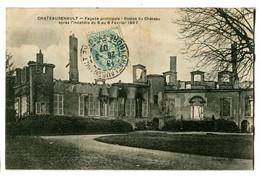 CPA 37 Indre Et Loire Chateaurenault Façade Principale Restes Du Château - France